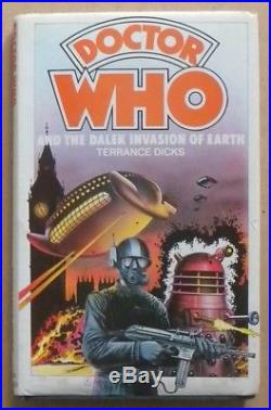 Rare Doctor Who And The Dalek Invasion Of Earth Hardcover Book, Not Ex-library