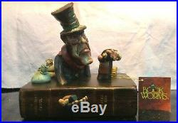 Rare Scrooge Sculpture Book Worms The Penny Whistle Group Figurine Curio Box