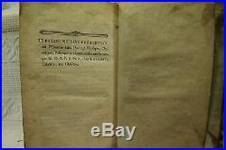 Rare antique old Leather book 1775 Science Fiction Novel spaceman alien Mercury