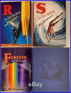 Ray Bradbury R Is For Rocket S Is For Space Limited Signed 3 Book Deluxe Set