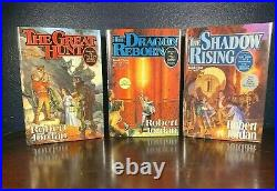 Robert Jordan WHEEL OF TIME Comp Series EYE OF THE WORLD 1st Book GREAT HUNT hc