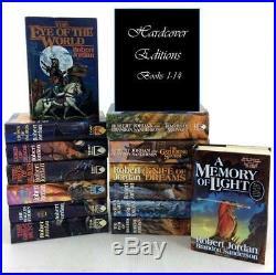Robert Jordan WHEEL OF TIME Series PREMIUM HARDCOVER Collection Set Books 1-14