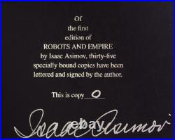 Robots and Empire by Isaac Asimov (Signed)(Limited Edition) Book O