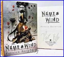 SIGNED 1st Print The Name of the Wind Anniversary Dlx Book Patrick Rothfuss COA