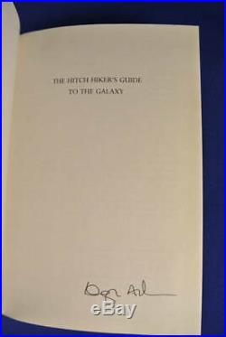 SIGNED BOOK THE HITCH HIKER'S GUIDE TO THE GALAXY Douglas Adams SMALL HCDJ