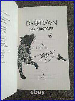 SIGNED Darkdawn Jay Kristoff Nevernight Chronicles Waterstones and US Ed