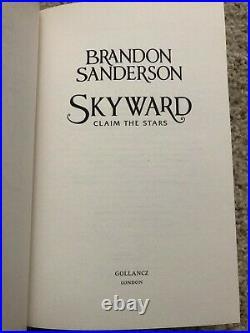 SIGNED, LIMITED Skyward by Brandon Sanderson, UK 1st/1st Hardcover /150