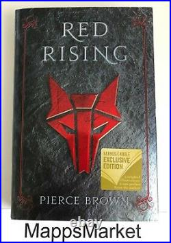 SIGNED Red Rising by Pierce Brown B&N Exclusive Howler's Edition Hardcover NEW