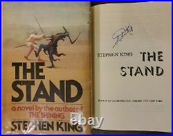SIGNED The Stand 1978 Stephen King Doubleday Hardcover Book DJ Mylar First T45