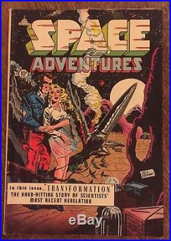 SPACE ADVENTURES Comic Book #7 Science Fiction Mid Grade 1953 Capitol