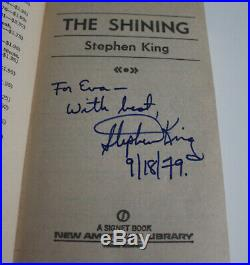 STEPHEN KING SIGNED THE SHINING PAPERBACK BOOK withCOA RARE VINTAGE SIGNATURE