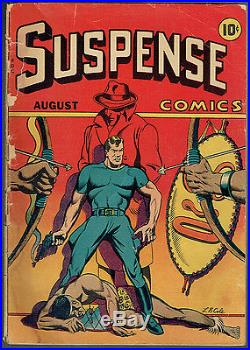 SUSPENSE COMICS 5 GD-/1.8 Very rare book from August 1944