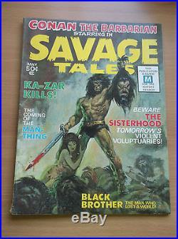 Savage Tales #1, Origin & 1st App. Of Man Thing, Key Book, 1971, Vg+ (4.5)