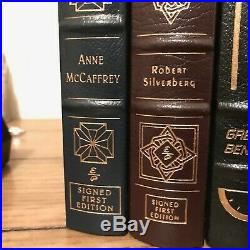 Science Fiction 7 Book Lot, EASTON PRESS, (3 BOOKS SIGNED)