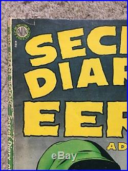Secret Diary Of Eerie Adventures nn EXTREMELY RARE Book Is Complete & Attached