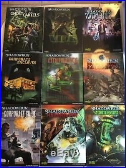 Shadowrun 4th Edition Huge 22 Book Lot With Bonus
