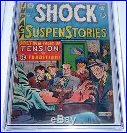 Shock SuspenStories #1 EC Comic CGC Universal Grade 4.5 Electrocution Cover Book