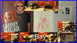 Signed Book Sammy Hagar Red 1/1 DJ HC Van Halen SET T-Shirt Poster Flyer RARE