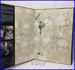 Signed H. R. Gigers Necronomicon Hardcover Book Alien 7th Printing 2001