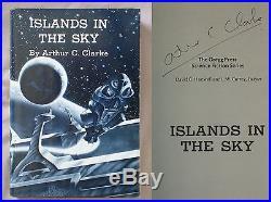 Signed ISLANDS IN THE SKY Arthur C Clarke HC/DJ GREGG PRESS BOOK