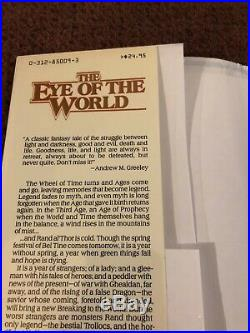 Signed Robert Jordan 1990 Eye Of The World. Wheel Of Time #1 Hardcover Rare 3rd