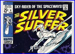 Silver Surfer #4 (1969) Marvel Comics Book Stan Lee Autograph/signed In 1991