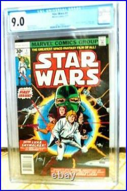 Star Wars #1 CGC 9.0 First Print 1977 Comic Book Science Fiction Newstand