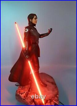 Star Wars 2ND SISTER EX 1/4 Custom statue Mandalorian Ahsoka + Sideshow Book