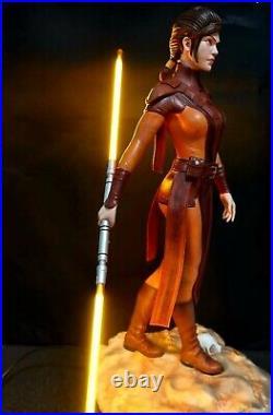 Star Wars BASTILA SHAN EX 1/4 Custom statue DARTH REVAN WIFE + Sideshow Book