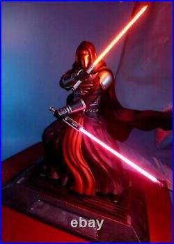 Star Wars DARTH REVAN EX 1/4 Custom statue Mandalorian Rare Sold+ Sideshow Book