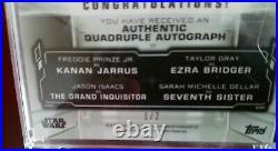 Star Wars Masterwork 2019 QUADRUPLE AUTOGRAPH BOOK 1/2 QA-REB MAGNETIC CASE INC