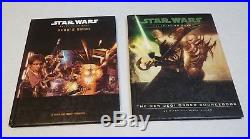 Star Wars RPG d20 Core Rule Book Lot of 11 Books, GM Screen, Character Sheets