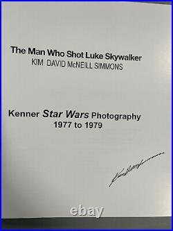 Star Wars The Man Who Shot Luke Skywalker Kim Simmons Signed Kenner Book 77-79