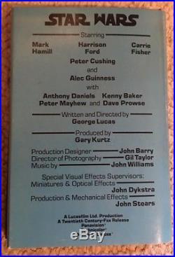 Star Wars Vintage Book Club Edition Hardcover 1976 Unused George Lucas WithDJ