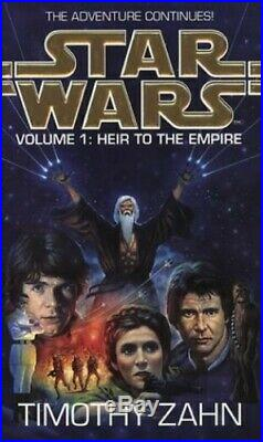 Star Wars Volume 1 Heir to the Empire by Zahn, Timothy Paperback Book The