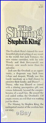 Stephen King. THE SHINING. Doubleday, 1977. 1st HC/DJ. King's 3rd Book. Scarce