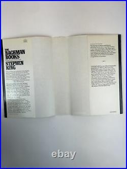 Stephen King The Bachman Books 1st/1st Edition Hardcover Vg+/Vg+ Rage Long Walk+