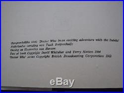 Super rare 1966 DUTCH hb of Doctor Who With Dust Jacket Dr Who en de Daleks
