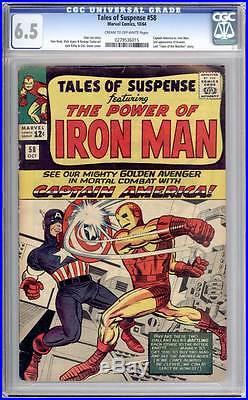 Tales of Suspense # 58 Captain America vs Iron Man! CGC 6.5 scarce book