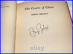 The Courts of Chaos, Hardcover, Faber, Signed by Zelazny