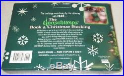The Goosebumps Book And Christmas Monster Stocking Box Set #6 Extremely Rare