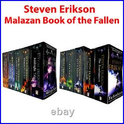 The Malazan Book of the Fallen Steven Erikson 10 Books Collection Set Pack NEW