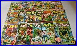 The Man Thing #1-22 Complete Set Marvel Comic Books 1974 Vf Very Fine+