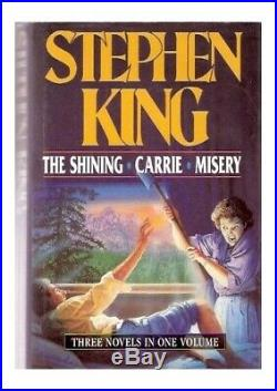 The Shining, Carrie and Misery Omnibus by King, Stephen Hardback Book The Cheap