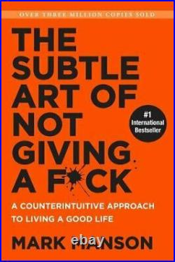 The Subtle Art of Not Giving a Fck (Smiths UK) by Manson, Mark Book The Cheap