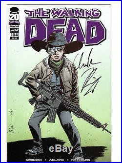 The Walking Dead #104 Comic Book not CGC Signed By Chandler Riggs