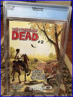The Walking Dead #1 Cgc 9.8 White Pages Beautiful Book 1st. Rick Grimes