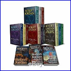 The Wheel of Time, 15 Book Set Robert Jordan Paperback Books