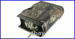 Tolkien Lord Of The Rings Unique Deluxe Leather Hand Crafted Cover Book