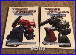 Transformers more than meets the eye guide book Vol 1 & 2 IDW OOP TPB MTMTE